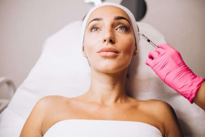 Mesotherapy for the area around the eyes